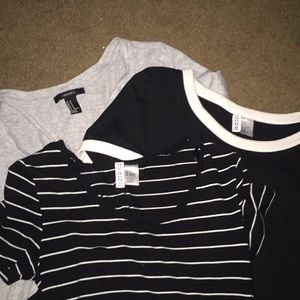 Short Sleeve H&M and Forever 21 t-shirts
